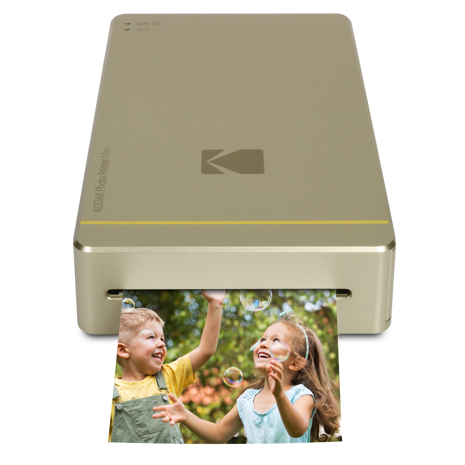 Kodak Mini Portable Mobile Instant Photo Printer - Wi-Fi & NFC Compatible - Wirelessly Prints 2.1 x 3.4 Images, Advanced DyeSub Printing Technology (Gold) Compatible with Android & iOS by KODAK