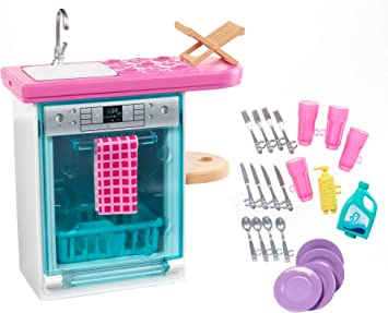Amazon.com: Barbie - Juego de lavavajillas: Toys & Games