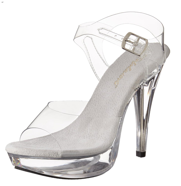 Women's Clear Cocktail Platform Sandal - DeluxeAdultCostumes.com