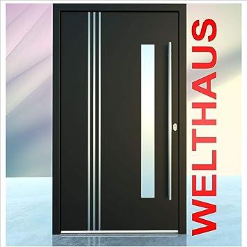 Puerta de casa Welthaus WH75 estándar, de aluminio con plástico, LA122, color antracita: Amazon.es: Bricolaje y herramientas