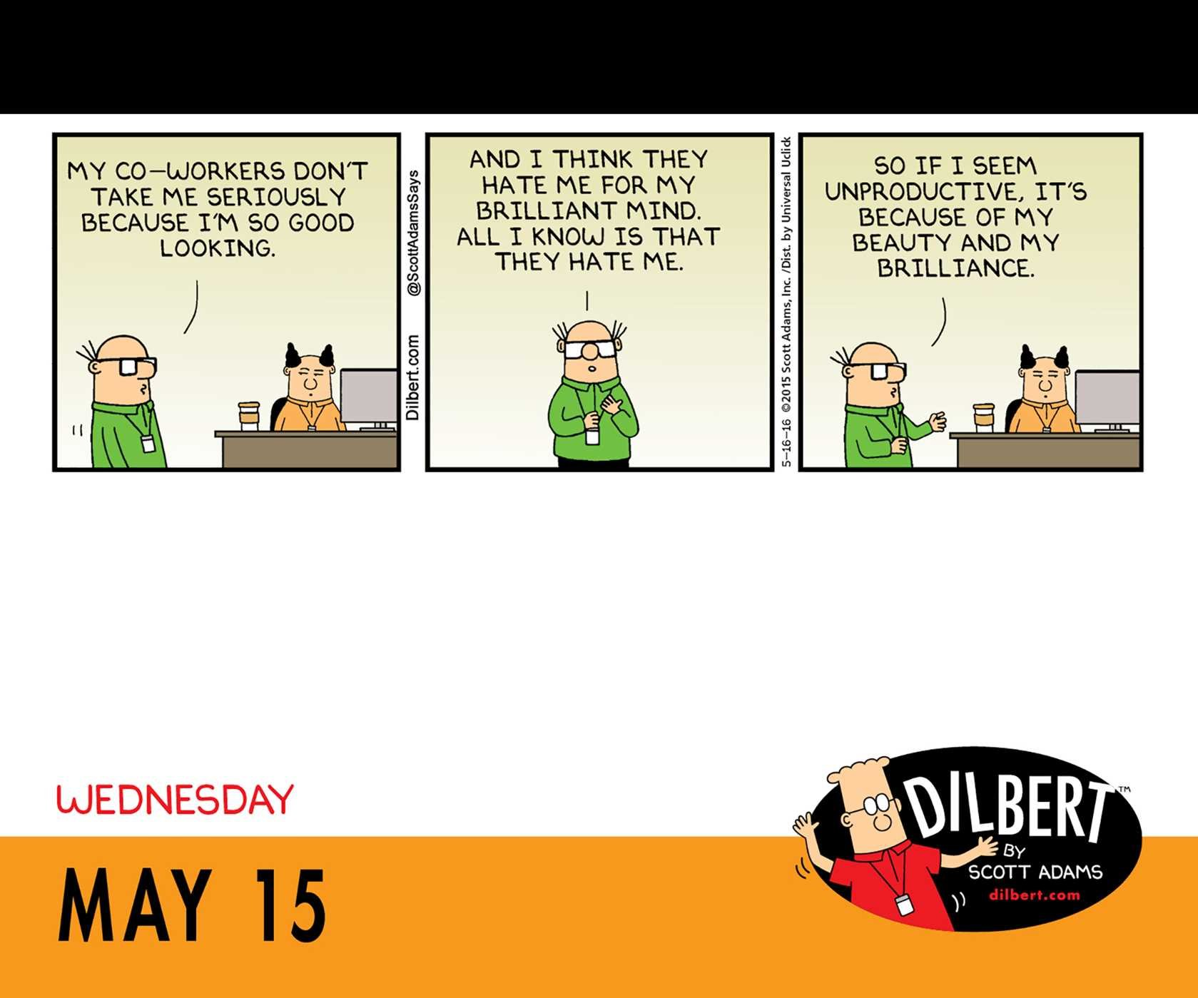 Comic strip co worker od dilbert opinion you