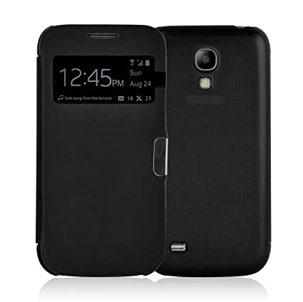 best authentic bffd4 7970b Galaxy S4 Case - Black Smart View Flip Cover for Samsung Galaxy S4, Screen  Protector Included