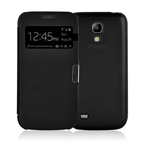 JAMMYLIZARD Smart View Hülle für Samsung Galaxy S4, Schwarz
