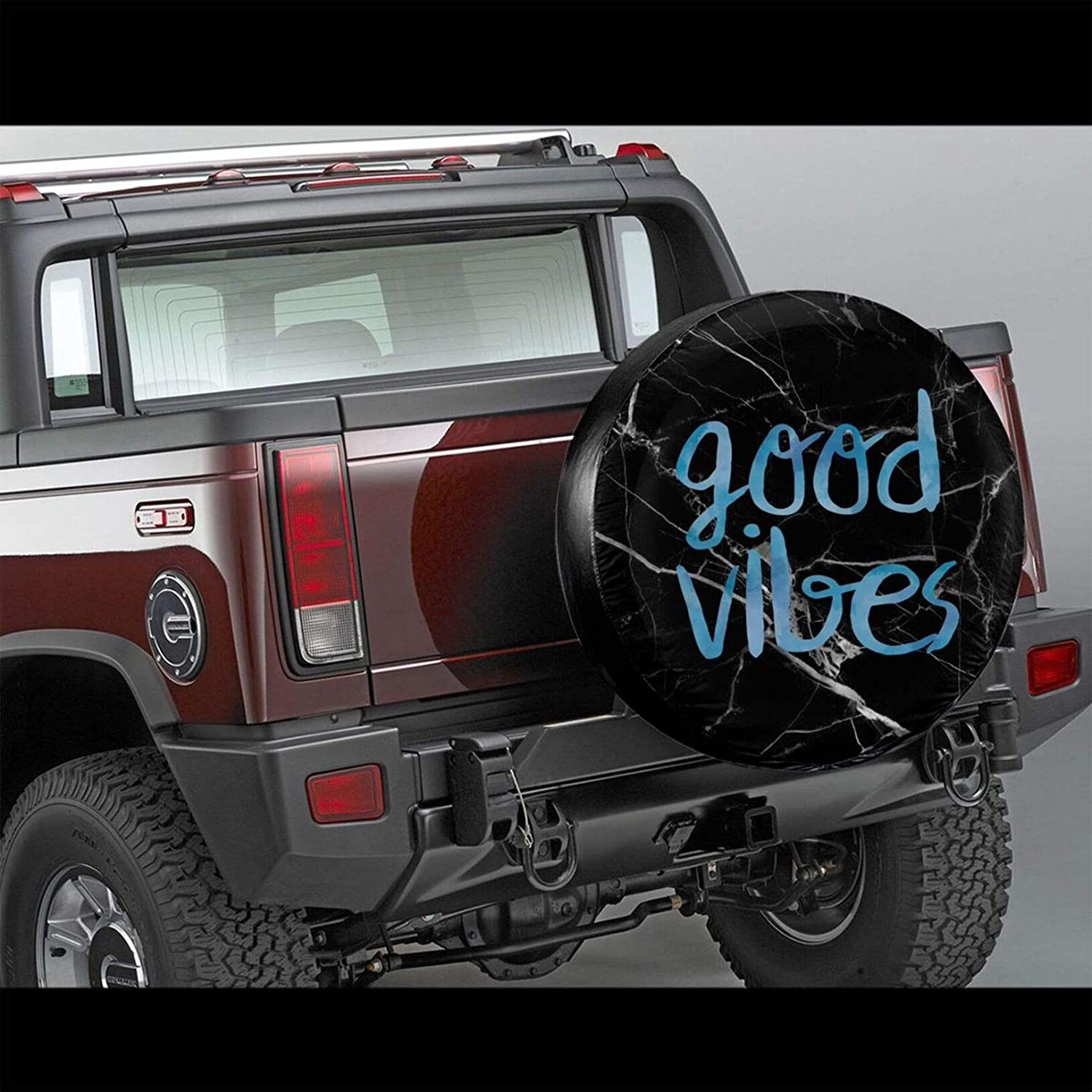 Fuuya Good Vibes Spare Tire Cover for Jeep Trailer RV SUV Truck Camper