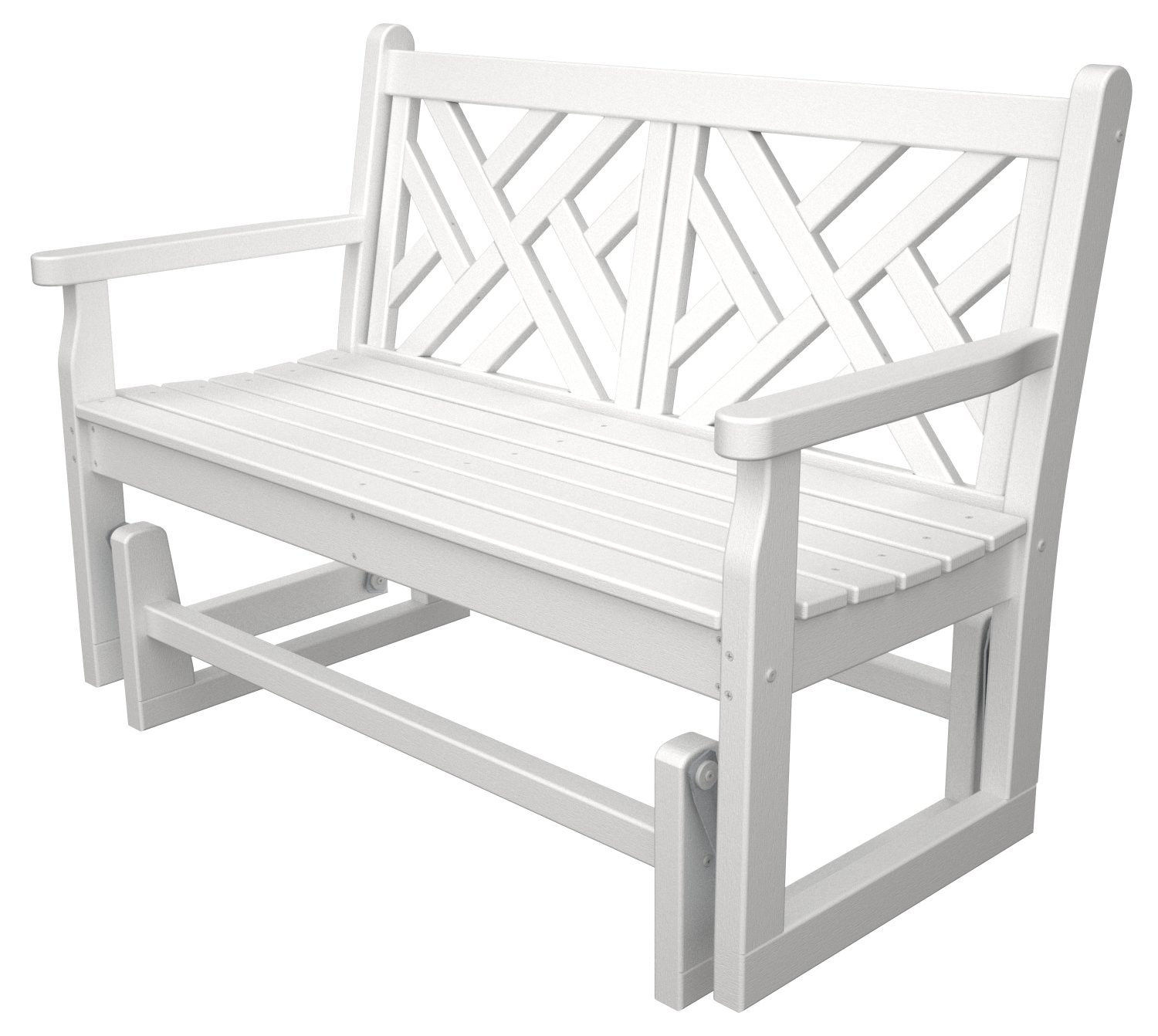 Amazon POLYWOOD CDG48WH Chippendale Glider White Patio