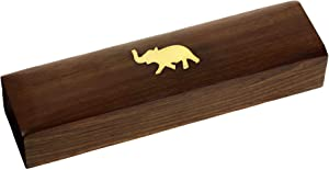 Indian Elephant Jewelry Holder 8 x 2 x 1.25 Inch Small Wood Box Jewelry Boxes for Necklaces Women 6 Units
