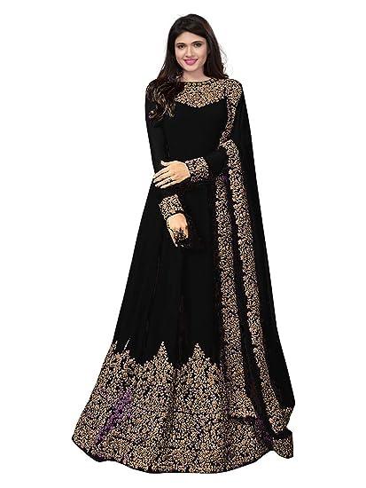 80d35ac084a5 Royal Export Women s A-Line Salwar Suit Set (coding-black-salwar  suit black Free