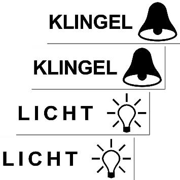 4 Stück Aufkleber Sticker Licht Klingel Briefkasten Schalter Haustür ...