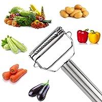 Julienne Peeler and Vegetable Peeler, Oukas Stainless Steel Ultra Sharp Blade Multifunctional Peel Cutter Slicer for Carrot Potato Vegetable Fruit