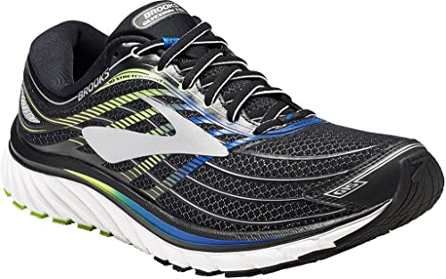 698e29db53fe Brooks Men s Glycerin 15 Black Electric Brooks Blue Green Gecko Athletic  Shoe  Buy Online at Low Prices in India - Amazon.in