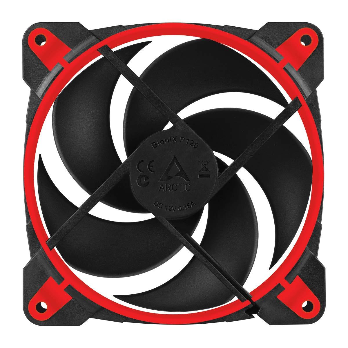 ARCTIC BioniX P120 - Ventilador de Caja - Ventilador de CPU - 120mm - conexión PST- 200 hasta 2100 TR/MIN - Rojo: Amazon.es: Informática
