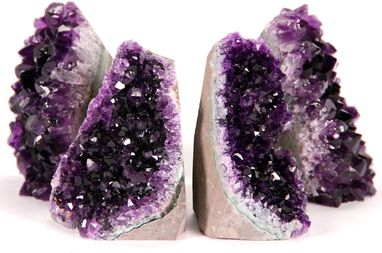 Bonus Mineral Included 1 to 1.5 lbs, Deep Purple Amethyst DesertUSA Uruguayan Amethyst Cut Base from Basalt Plus