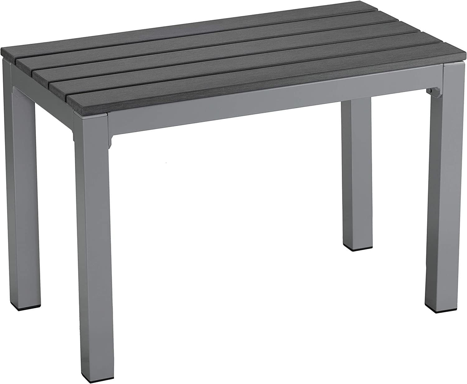 Cortesi Home CH-DB700114 Jaxon Aluminum Outdoor Bench in Poly Resin, 26 W x 14 L x 17 H, Grey