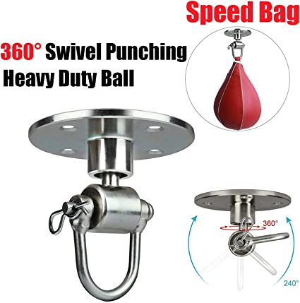 Stainless Steel Boxing Bag Swivel AND Punching Speed Bag Red Vinyl Brand New