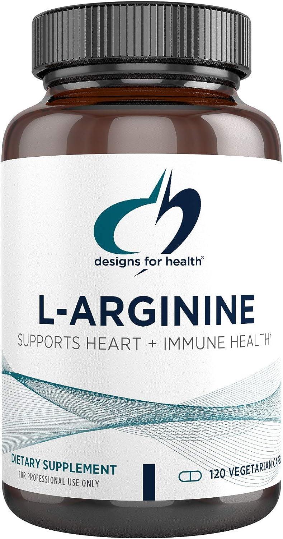Designs for Health L-Arginine 750mg - Amino Acid Nitric Oxide Booster (120 Capsules)