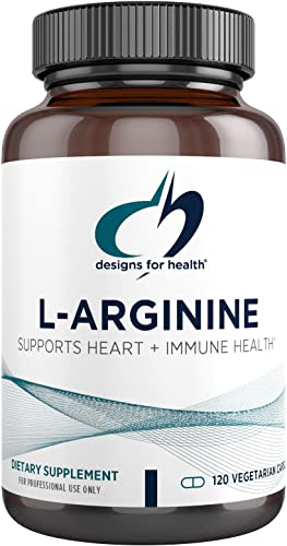 Designs for Health L-Arginine 750mg – Amino Acid Nitric Oxide Booster 120 Capsules