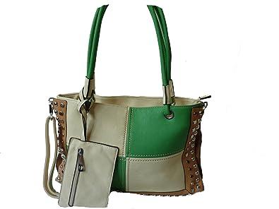 915e773a8fb18 Gamp T H80011 moderne Damen Handtasche mit Nieten Tasche in 8 Farben ...