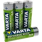 Varta Batteria Ricaricabile AA Stilo, 2600 mAh, Confezione da 4 Pile, Pre-caricate, Pronte all'Uso