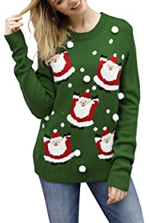 Buy Pink Queen Women's Knitted Pullover Ugly Christmas