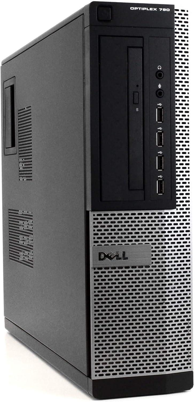 Dell Optiplex 790 DT High Performance Premium Business Desktop Computer (Intel Quad-Core i5-2400 up to 3.4GHz, 8GB DDR3 RAM, 2TB HDD, DVDROM, WiFi, Windows 10 Pro) (Renewed)