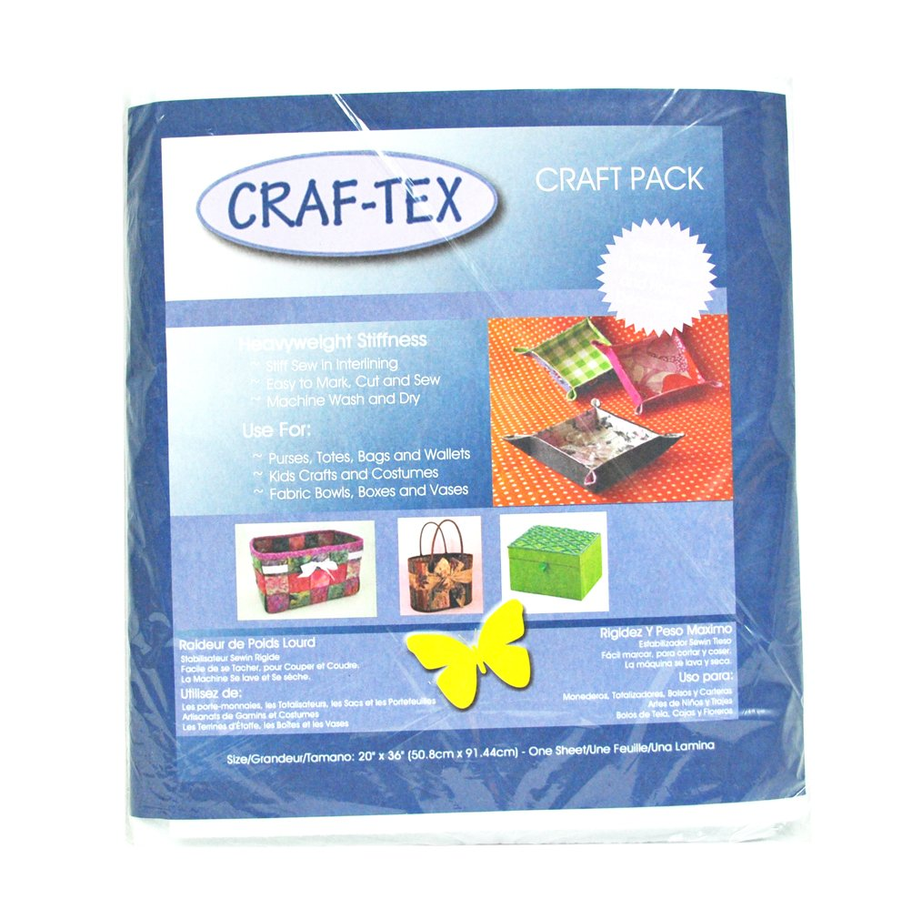 Amazon.com: Bosal Craf Tex NonWoven Sew In 20 x 36 Package ...