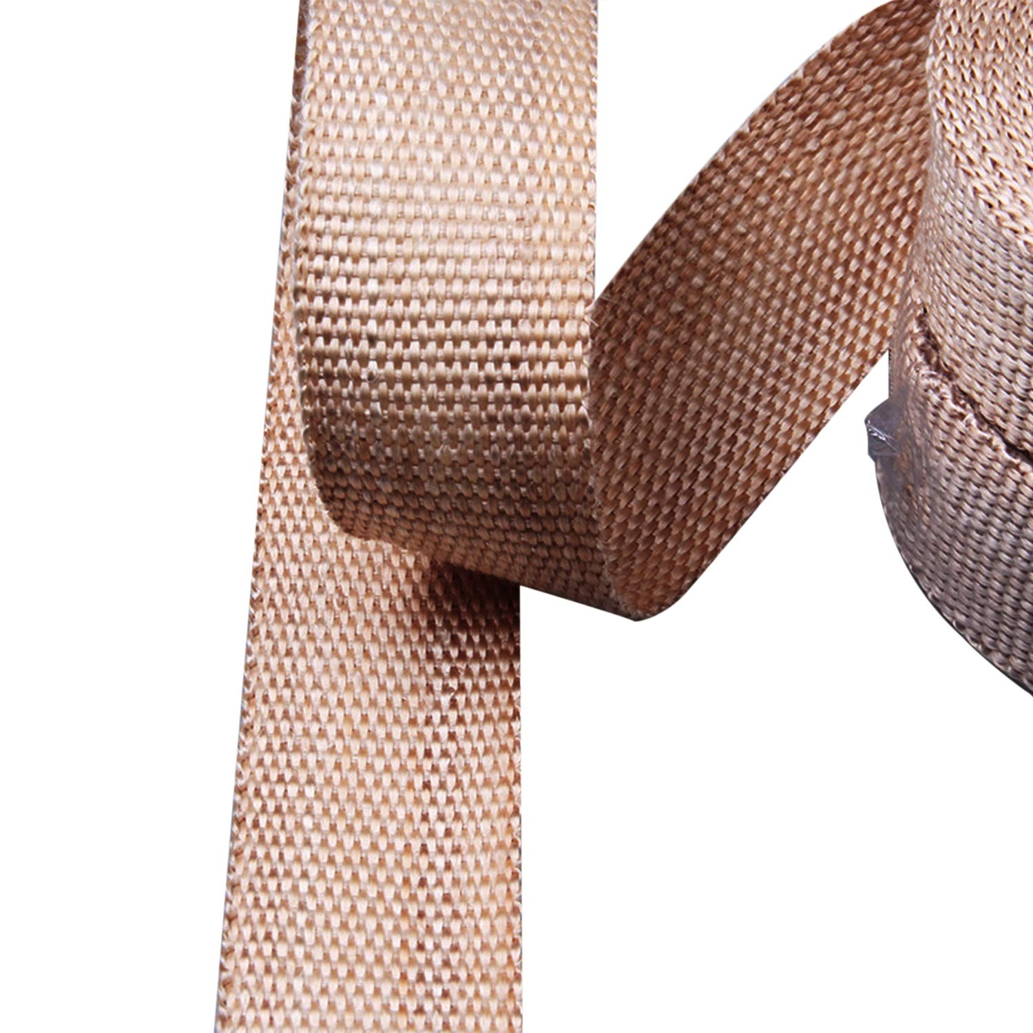 2 x 33 Golden NRC/&XRC Titanium Lava Fiber,Exhaust Heat Wrap,Exhaust Header Wrap,Kit for Motorcycle,Auto,BOAT/&ATVwith 6 PCS 11.8Stainless Ties
