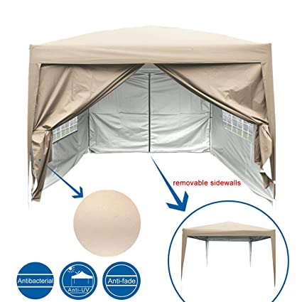 Peaktop 10 Feet x10 Feet EZ Pop Up Canopy Multifunctional Tent C&ing Tent/Party Tent/Commercial Tent Gazebo 4 Walls with Carry Bag 100% Waterproof-9 ...  sc 1 st  Amazon.com & Amazon.com: Peaktop 10 Feet x10 Feet EZ Pop Up Canopy ...