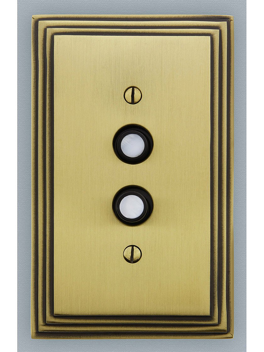 Classic Push Button Light Switch With Double Mother-Of-Pearl Inlay ...