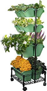 Watex Mobile Green Wall (Double Frame, Spring Bouquet) , BPA Free Planters