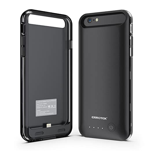 2 opinioni per Ennotek® iPhone 6s / 6 Batteria Custodia [Apple MFi certificato] Caricatore