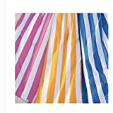 """Oversized Microfiber Beach Towels by SBZ Outdoors, Blue Pink Orange Stripes - Large - 31"""" x 70"""" & XL - 35"""" x 78"""" Soft, Fast Drying, & Lightweight Towel"""