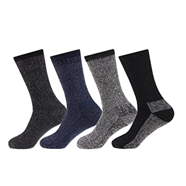 311a5a20de661 NEW 4 pairs Mens Arctic Comfort ® Thick Thermal Wool Socks High Tog Rating  UK Size 6-11 EUR size 39-45: Amazon.co.uk: Clothing