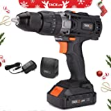 """20V MAX 1/2"""" Cordless Drill Driver Set with Hammer Function, 2-Speed Max Torque 310 In-lbs, 16+3 Position with LED, 2.0Ah Lithium-Ion Battery, PCD04C"""