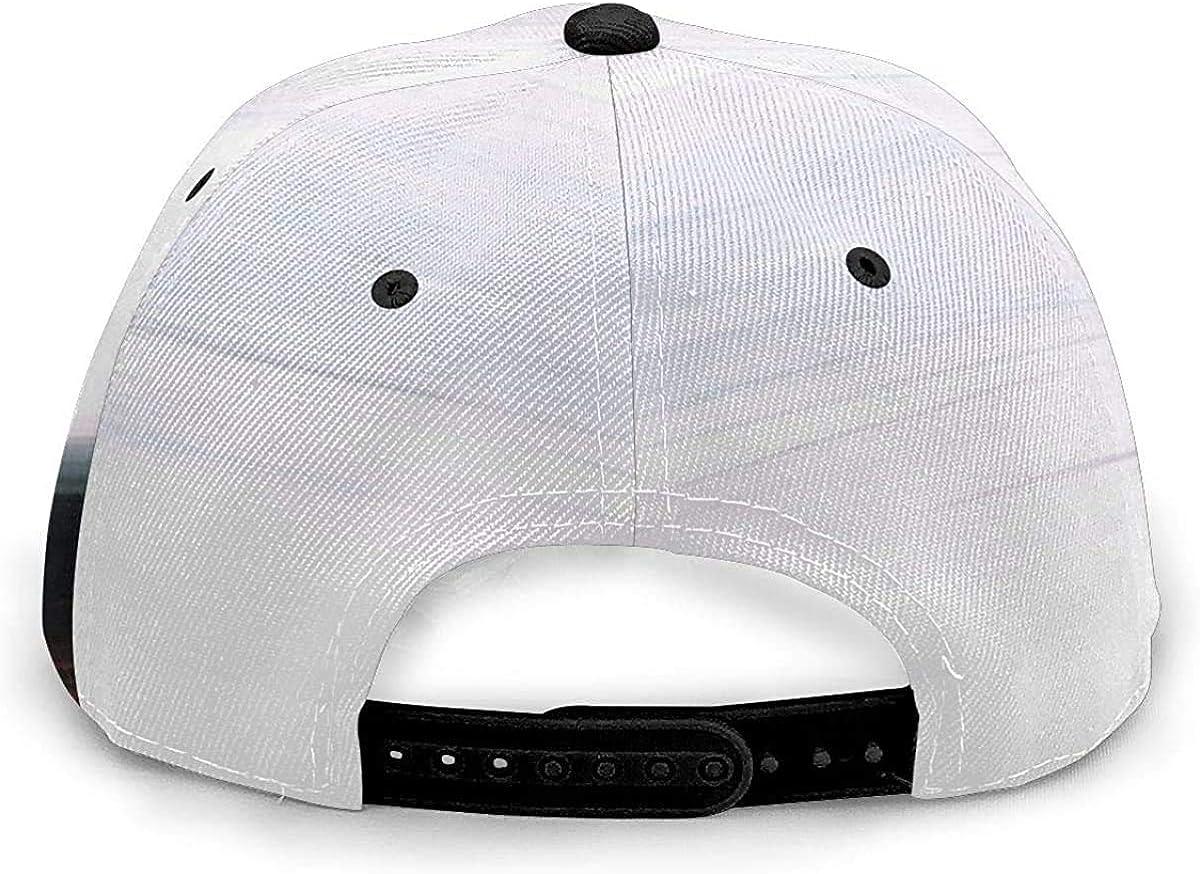White Black Red Horizon Landscape Lightweight Unisex Baseball Caps Adjustable Breathable Sun Hat for Sport Outdoor