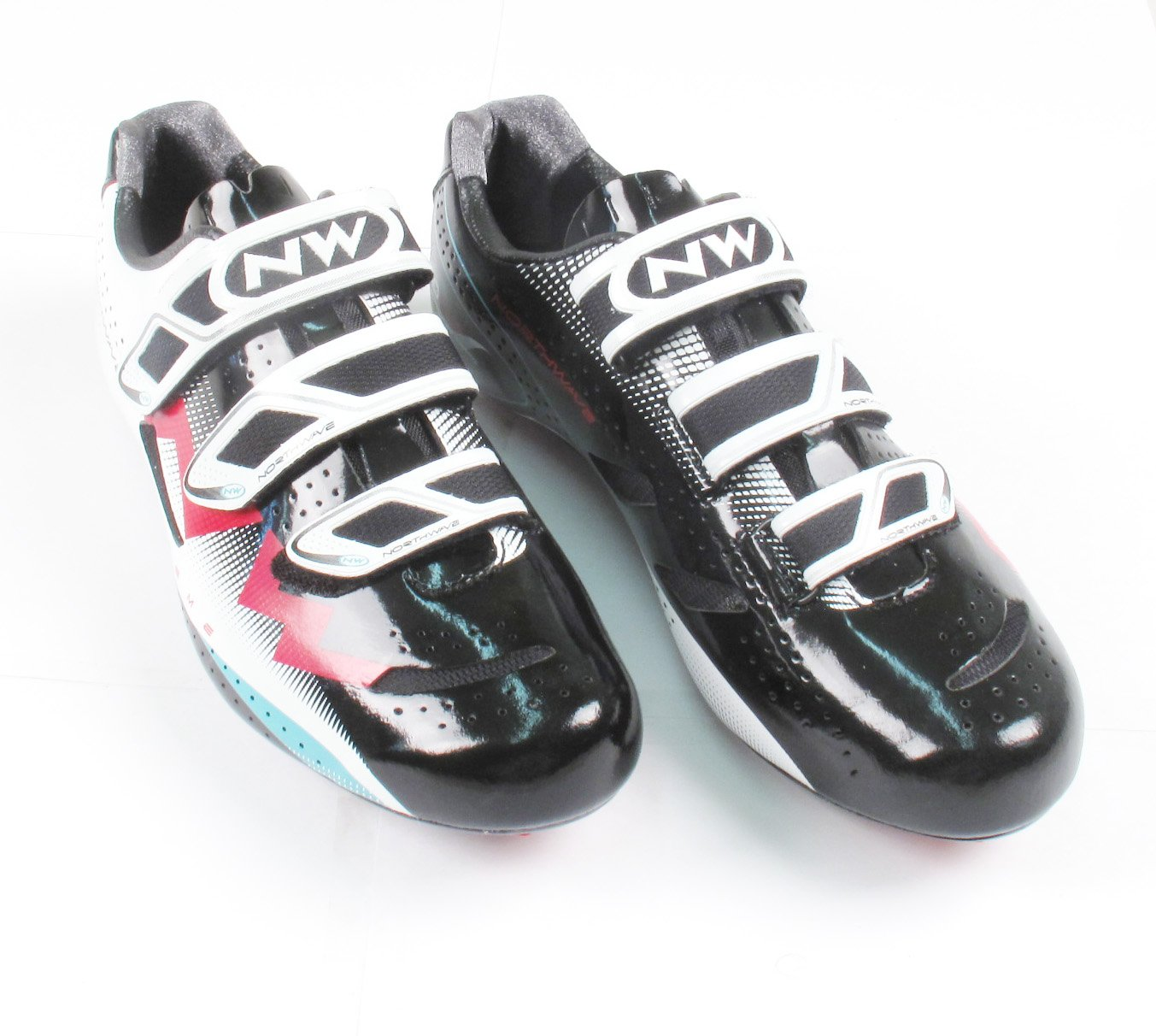 Northwave Extreme White/Black/Red Road Cycling Shoe Size 41 SPD SL Look Biking by Northwave