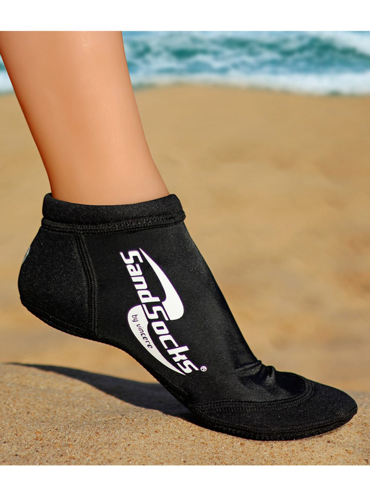 Sand Socks Vincere Sprite Low-Top XXS Black
