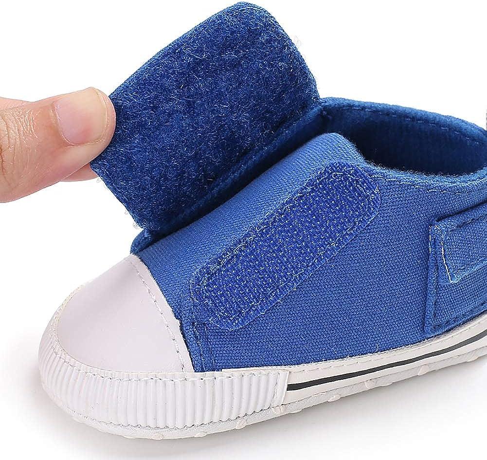 quyysvnvqt Casual Toddler Baby Boy Girl Canvas Shoes Magic Tape Anti-Slip Crib Prewalker Camouflage 13cm