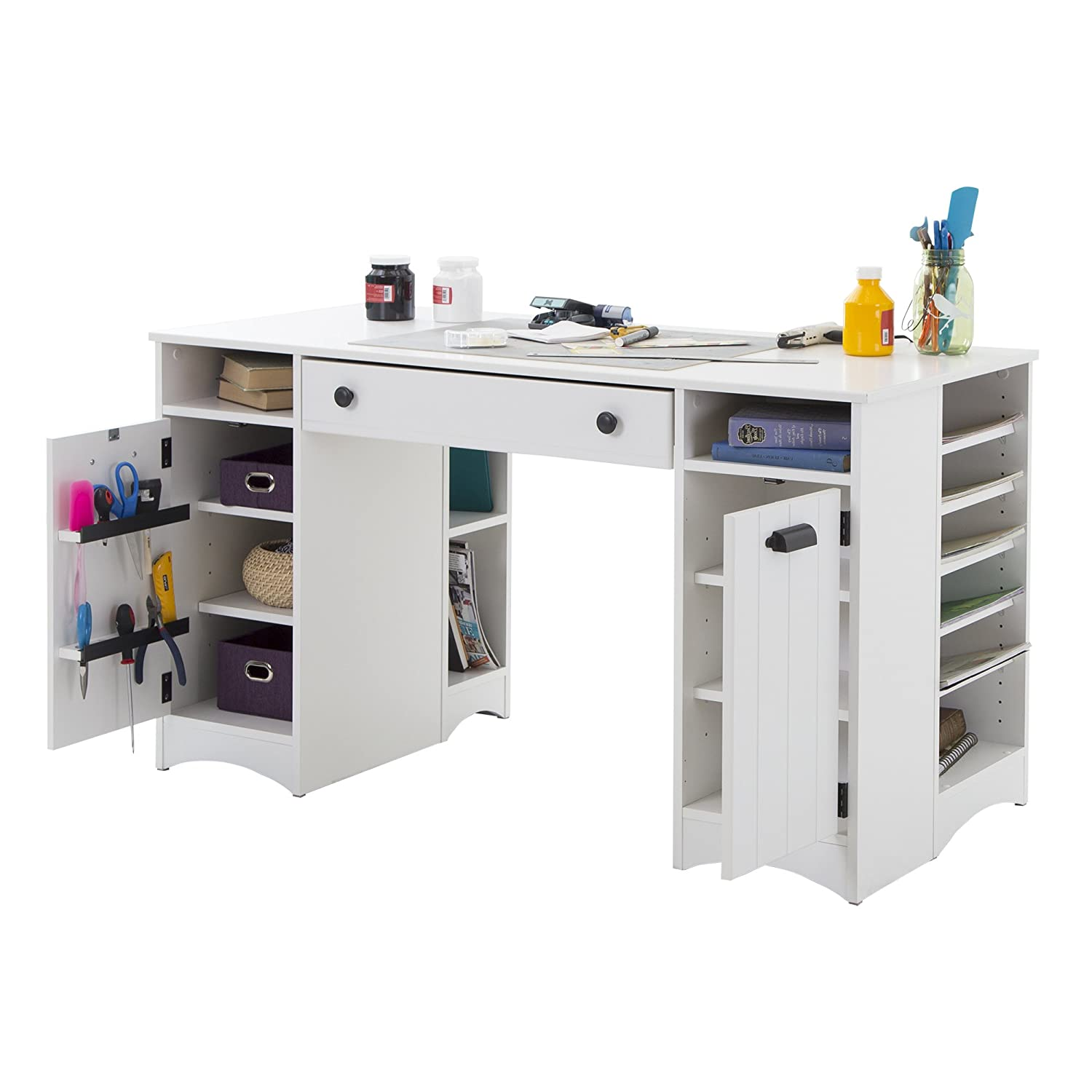 Amazon Artwork Craft Table with Storage Work Surface