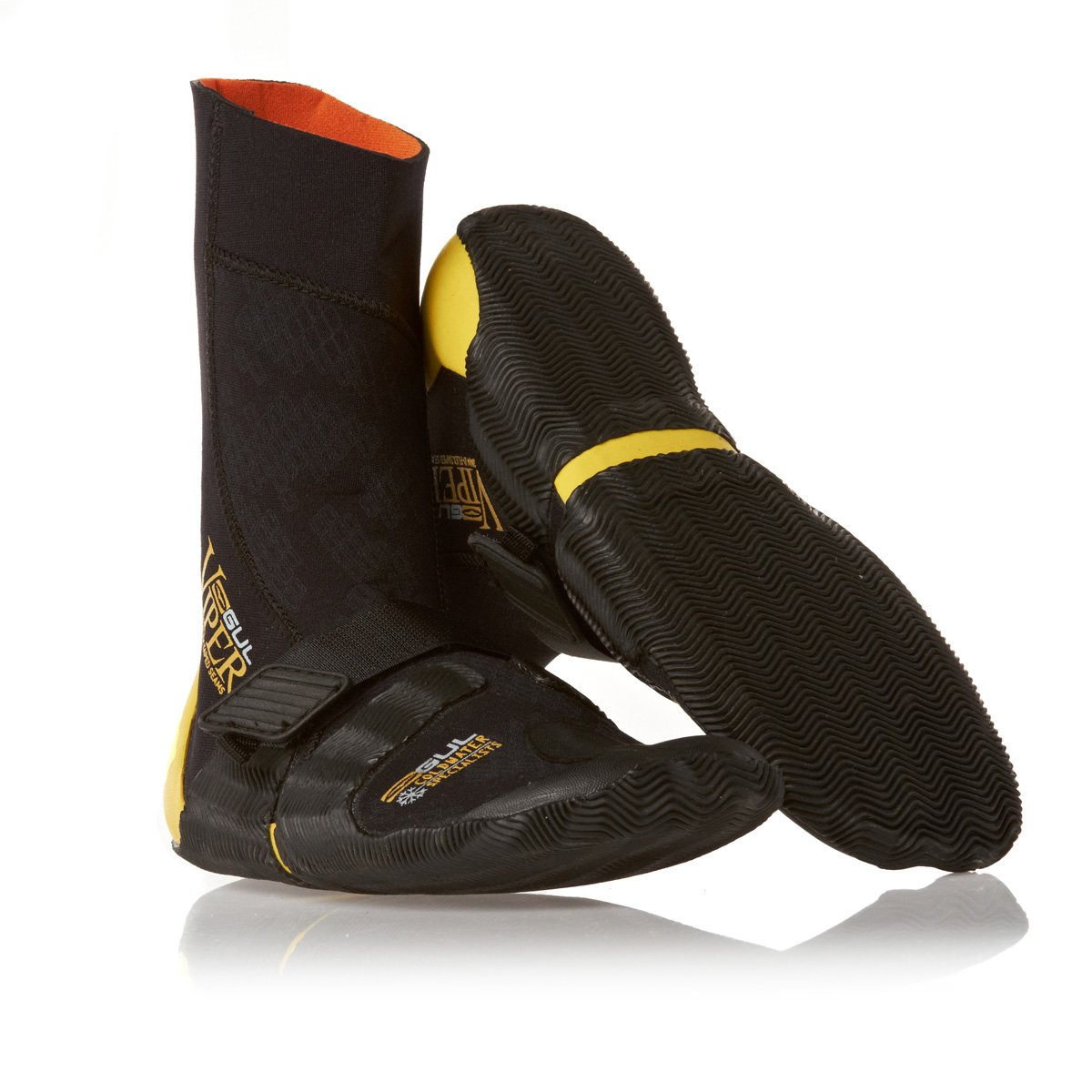 Gul Viper Boot Black/GOLD 3mm Split Toe Boot BO1253 Boot/Shoe Size UK - UK Size 5