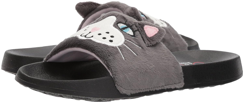Skechers BOBS from Women's 2nd Take-Plush Animal Slide Sandal B074JR2BLM 5 B(M) US|Charcoal