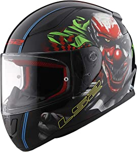 LS2 Helmets Motorcycles & Powersports Helmet's Full Face Rapid (Happy Dreams Zombie Clown Glow, Medium)