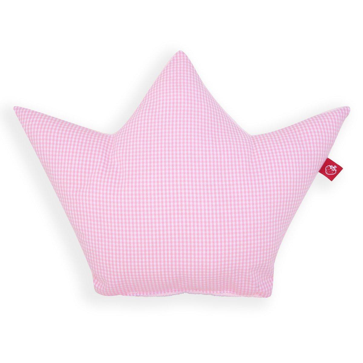 Vichy Karo rosa//wei/ß La Fraise Rouge 4251005602188 Kissen Krone Prinzessin