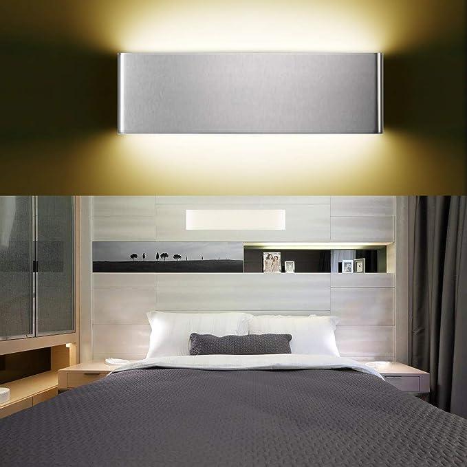 XIAJIA-12W LED Lámpara de pared Interior,Moderna Apliques de Pared,Moda Agradable Luz de Ambiente, AC85-265V, Longitud 30cm,Blanco ...