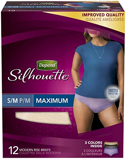 Depend Silhouette Underwear for Women Maximum Absorbency Economy Plus Pack Adult Diapers & Incontinence at amazon
