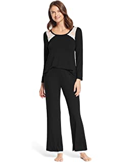 fb997c61 Kathy Ireland Womens 2 Piece Long Sleeve Lounge Shirt Pajama Pants Sleep Set