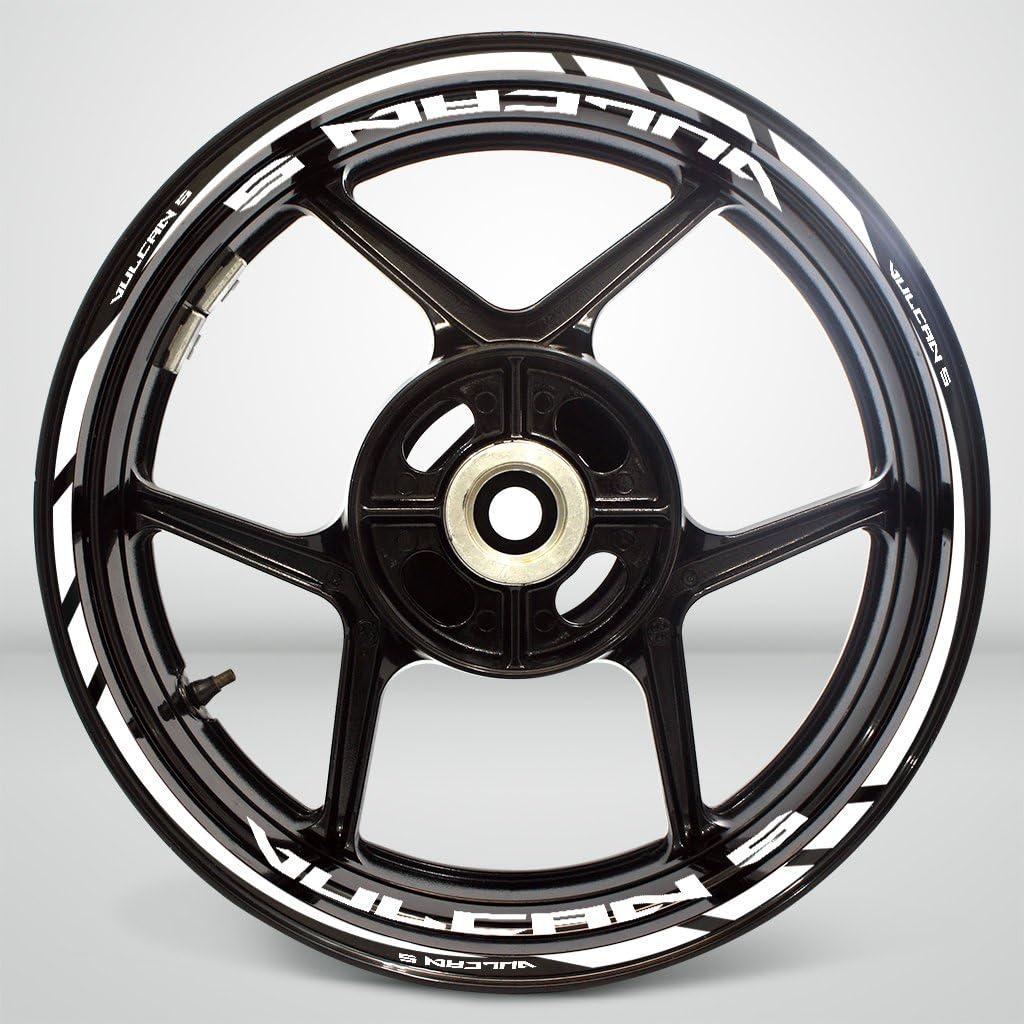 2 Tone Amethyst Motorcycle Rim Wheel Decal Accessory Sticker for Kawasaki Vulcan S