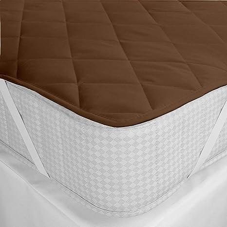 Gemshop Cotton Waterproof Single Bed Mattress Protector (Brown)