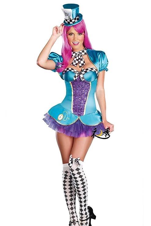 nihiug Traje De Halloween Cosplay Femenino Alice ...