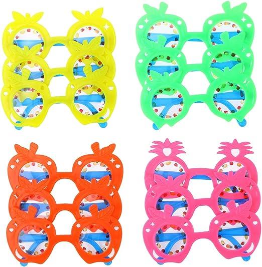 BESTOYARD 12pcs Gafas Divertidas para Fiestas Hawaiana Gafas ...