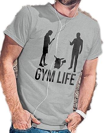Gimnasio Life – Pokemon – Camiseta go por lerage camisas de hombre: Amazon.es: Ropa y accesorios